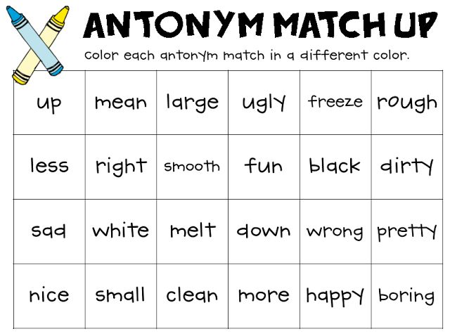 Sweet image intended for synonyms and antonyms printable games
