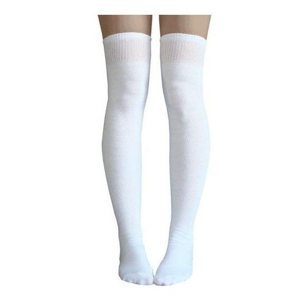 White thigh high socks ❤ liked on Polyvore featuring intimates, hosiery, socks, white hosiery, white socks, thigh-high socks, thigh high hosiery and white thigh high socks