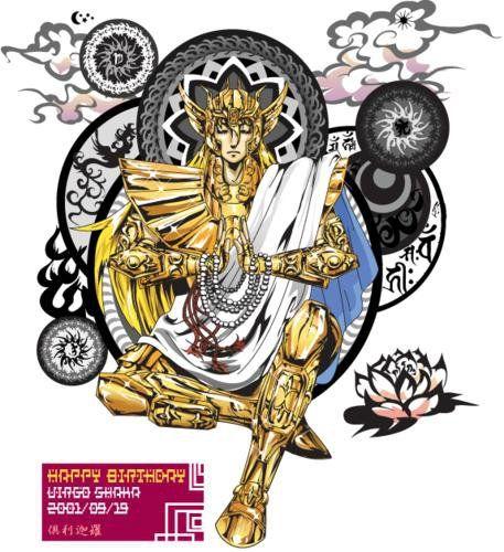 Shaka, cavaleiro de ouro de Virgem. Segundo a mitologia de CDZ seria reencarnação de Buda.