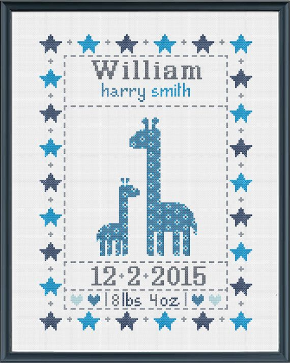 1000 images about Cross Stitch – Baby Birth Announcement Cross Stitch Patterns