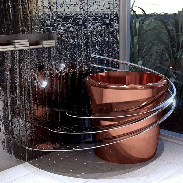 Bucket Shaped Bathtubs: The Tub E Electronic Bathtub By Wild Terrain Designs