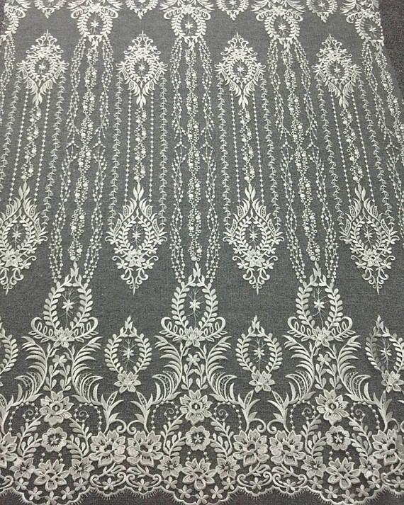 2017 Vintage wedding dress fabric tulle wedding lace seuqins