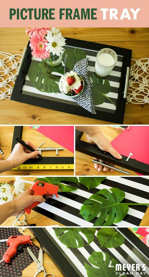 We've all got a few extra frames hiding somewhere around the house. Here's a DIY serving tray from our Home Maker Sallie Dale that will put them to good use for your next get-together. Whether you're an expert of a first-timer, it's easy. Just remove the backing, flip, mark where your handles will go, and pre-drill their holes. Screw in handles, customize with your choice of patterns, glue everything into place and you're ready to serve your guests something picture perfect! Click for the…