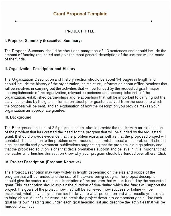 Grant Proposal Template Word In 2020 Proposal Templates Grant