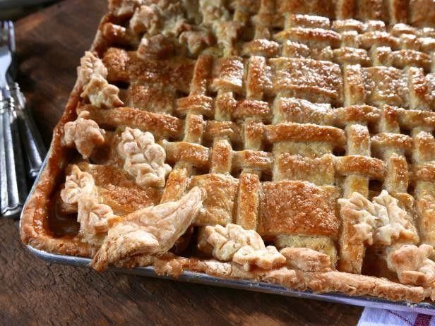 Slab Apple Pie With Lattice Crust Baked In Vermont Recipe