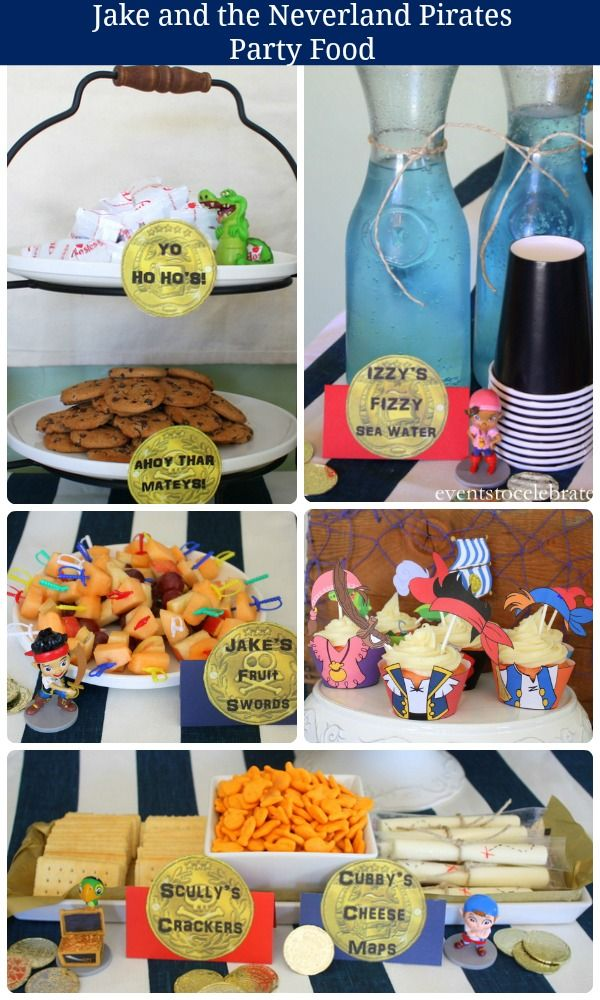 Jake and the Neverland Pirates Party Food - Events To Celebrate