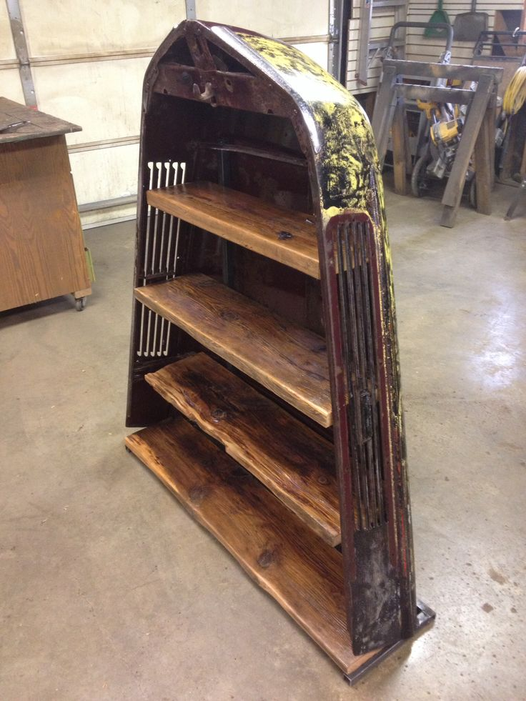 1941 ford tuck hood turned into a shelving unit. For sale contact Kyle Nielsen at 515-240-3182