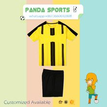 customized children football jersey, full set soccer uniform,kids football kits