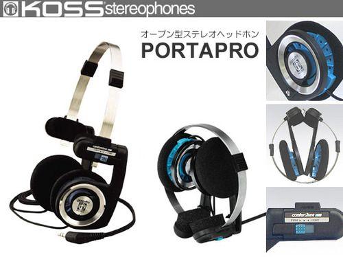 Amazon.co.jp: 【国内正規品】KOSS オープン型オーバーヘッドヘッドホン 折りたたみ式 PORTAPRO: 家電・カメラ