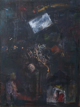 "Saatchi Art Artist GEORGE KARAFOTIAS; Painting, ""Night dream of a kid"" #art"