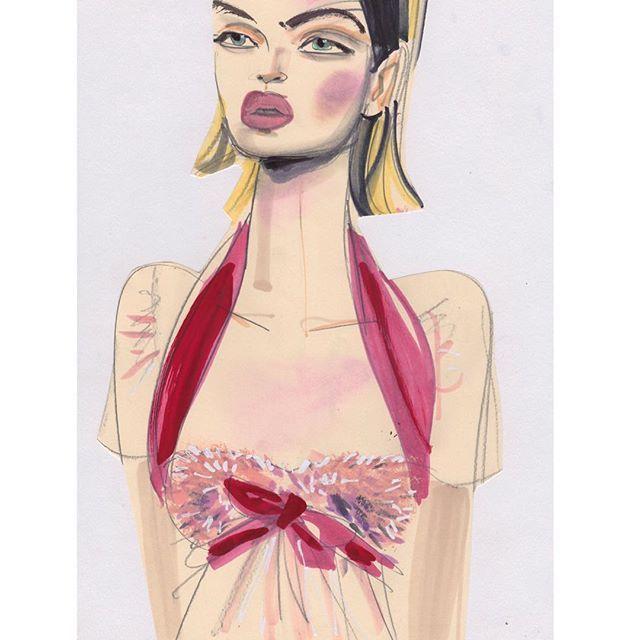 Eye Candy Giambattista Valli #giambattistavalli #couture #artwork #artist #art #fashionsketch #fashionart #illustration #illustrator #fashion #fashionista #fashionlover #flowers #pink #color #drawing #draw #fashiondrawing #sketch #fashionblogger #fashionlover #coutureshow