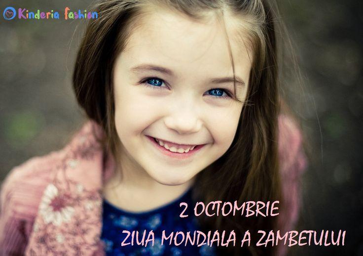 Astazi, 2 octombrie, este Ziua Mondiala a Zambetului! Haideti sa o sarbatorim cum se cuvine, cu un zambet larg si voie buna! :D  #kinderiafashion #ziuamondialaazambetului #zambet  2 October - Mondial Day of Smile :)