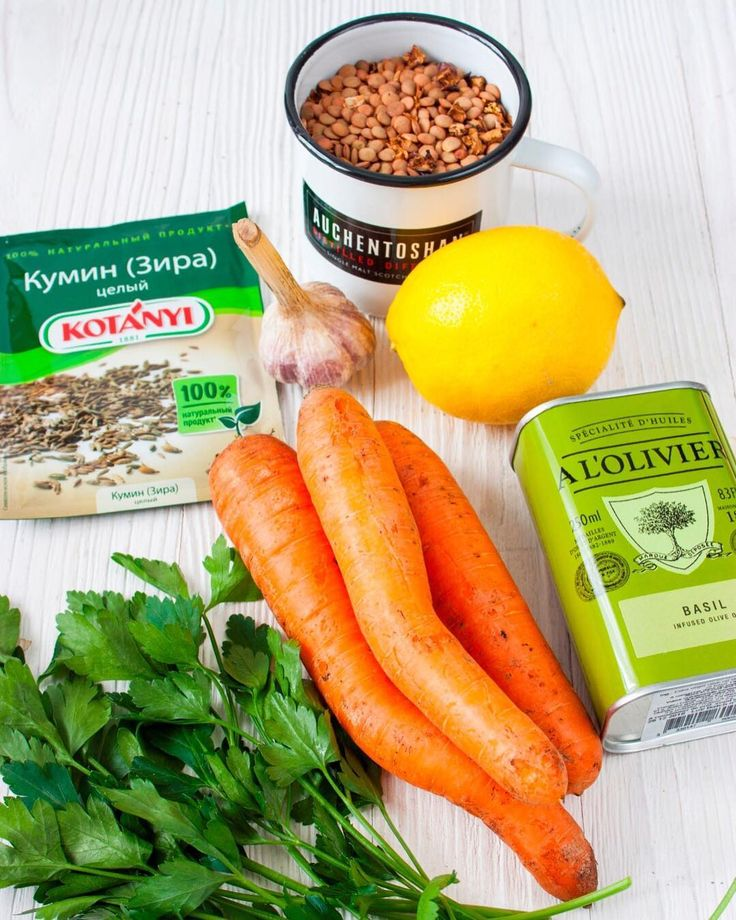 Морковь, чечевица для котлет