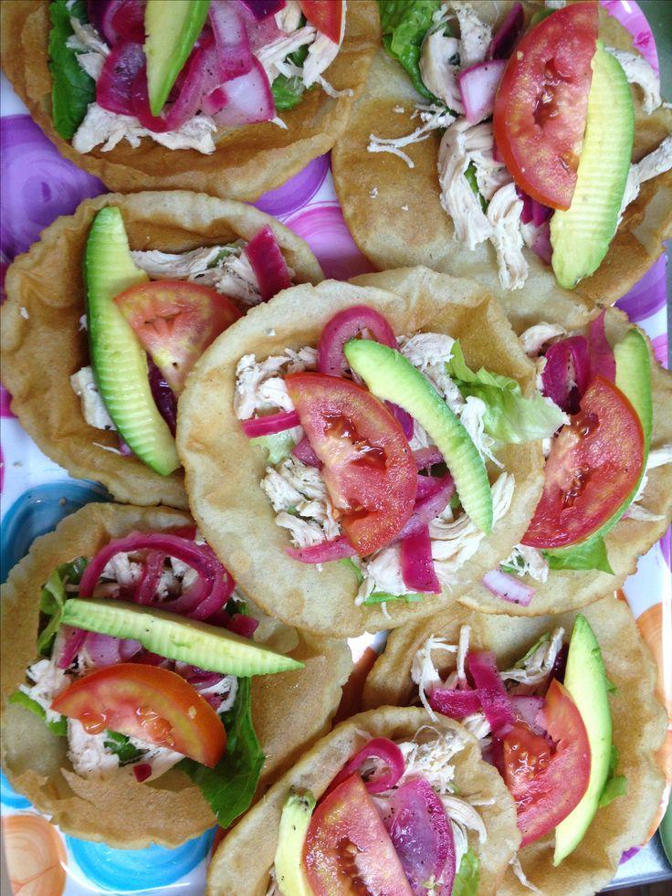 Salbutes comida yucateca!!