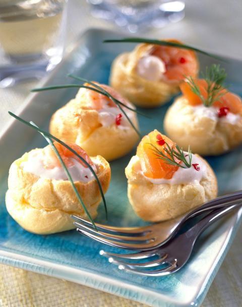 Petits choux farcis à la crème et au saumon - Cuisine - Plurielles.fr
