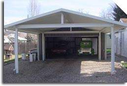 Carport do it yourself metal carport kits for Metal garage with porch