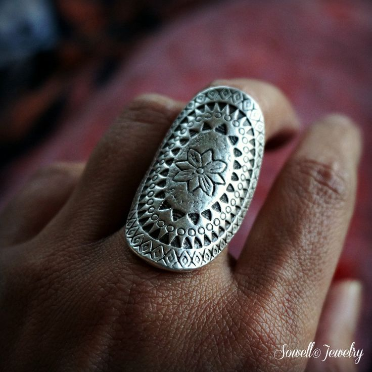 Flavia Silver Boho Ring