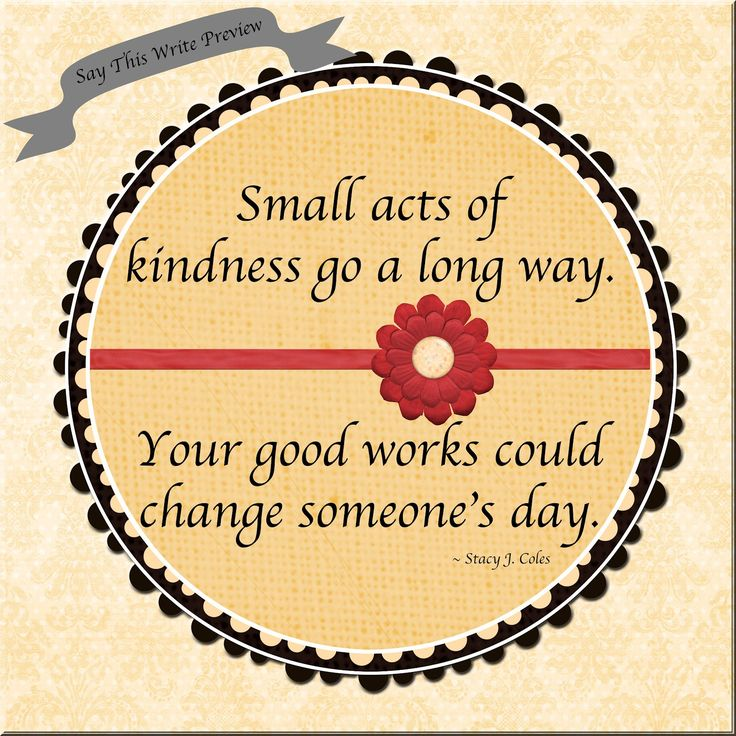 Good Works  Read the article at http://www.saythiswrite.blogspot.com.