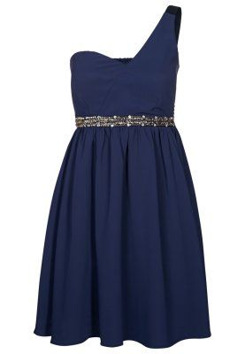 Cocktaildress, blue. I just love those with only one arm!!!! #love