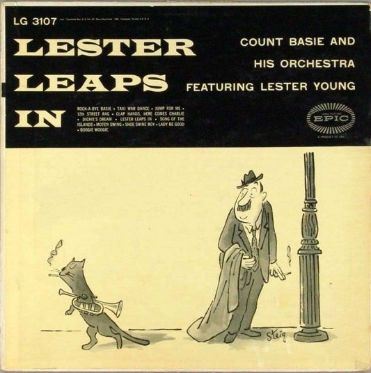 """Count Basie & His Orchestra featuring Lester Young - Lester Leaps In - Epic Records LG 3107 [12"""" LP]"""
