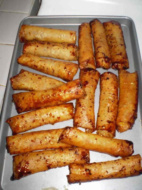 Banana Turron Recipe (Crispy Banana Rolls)
