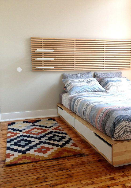 Ikea Mandal Bed Frame Headboard Mattress Queen Posts