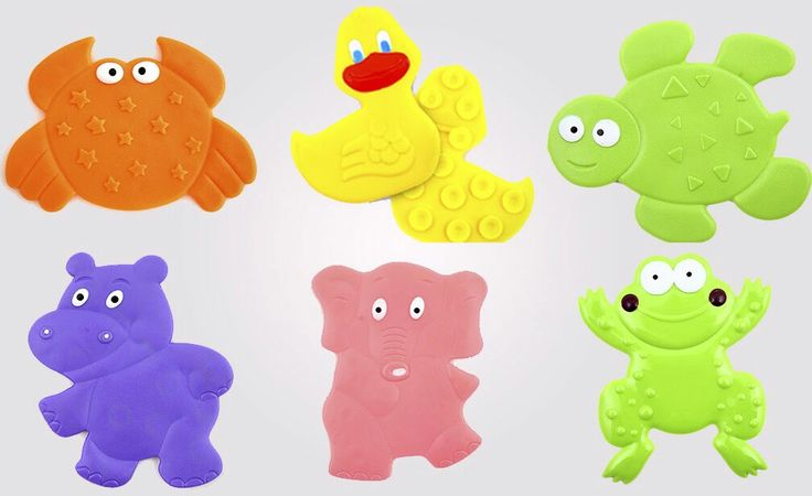 Детские мини-коврики (наклейки) для ванной   http://rebyatenok.org.ua/product/mini-kovriki-zhivotnye-aquababy/