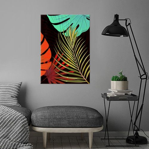 #art #tropical #exotic #piaschneider #displate #leaves #plants #palm