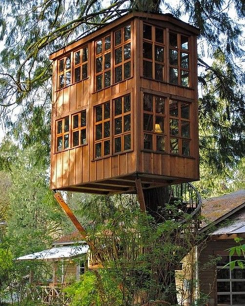 This backyard treehouse would provide amazing garden views, as well as a  quiet studio space