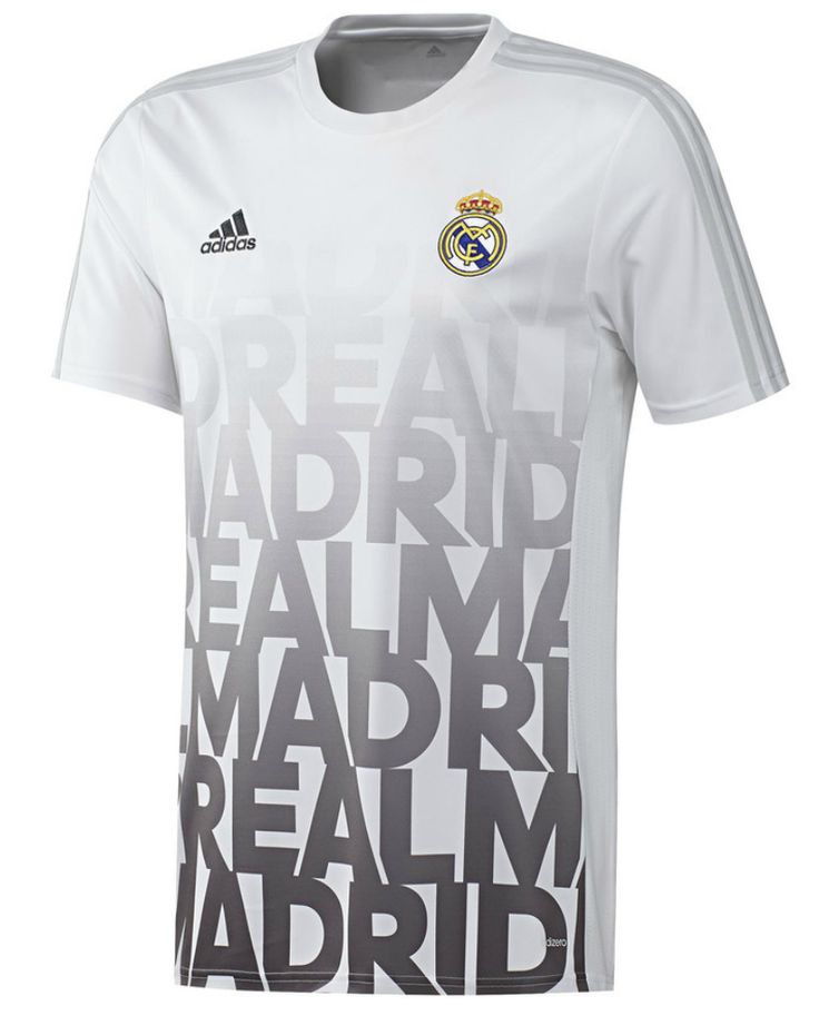 Real Madrid 2015 2016 Men White Training Top Shirt Item Specifics - Brand:  Adidas - Gender: Men's Adult - Model Year: - Material: Polyester - Type of  Brand ...
