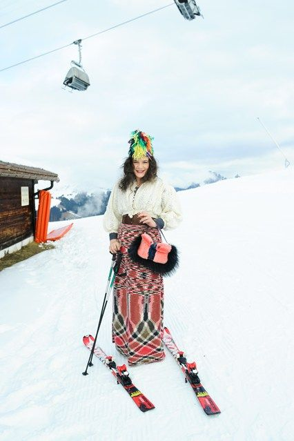 """How to be ski chic? Well, the quick answer to that question is """"don't ski"""". The outfits are puffy, the cold plays havoc with your skin – never mind the chaos of your hair – and struggling with skis and poles akimbo is not as easy a pose to carry off as lying on a beach, elegantly covered in a wrap."""