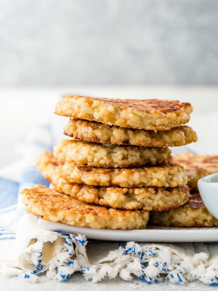 Healthy Brown Rice Cakes by weelicious.com.  They are so easy to make and so good for you | homemade Rice Cakes, #homemade #snacks #healthy #healthysnacks