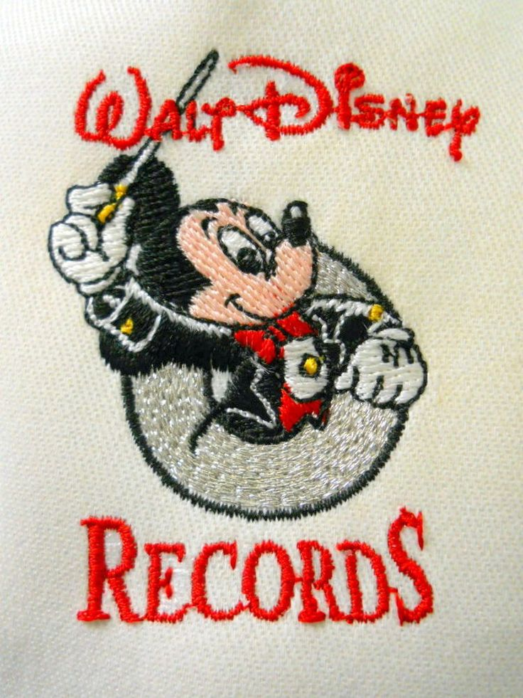 Walt Disney Records Snapback Cap Hat Promotional Only Mickey Mouse Conducting