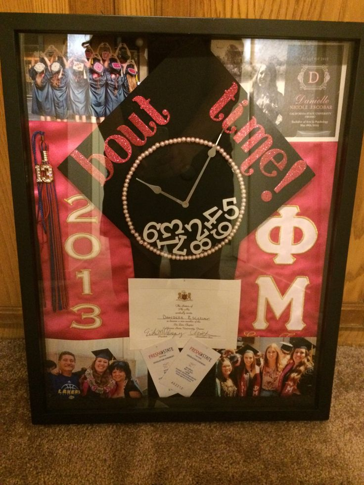 Graduation shadow box.  Gift for parents