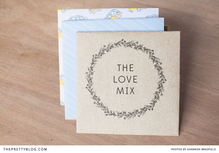 Love Mix CD cover for the road | FREE printable | Design: Bells & Whistles, Photographer: Shannon Bradfield Photography