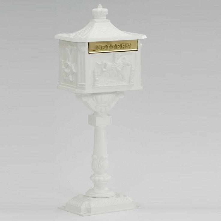Amco Victorian Cast Aluminum Pedestal Residential Mailbox
