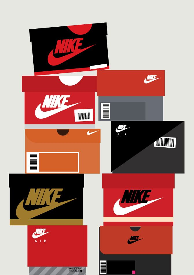 Sneaker Box Illustrations Chart The Evolution Of Nike And Other Sports Brands