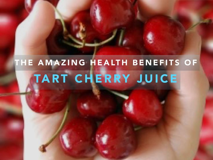 Health Benefits of Tart Cherry Juice