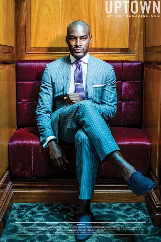 A Gentleman Returns: Mr. Tyson Beckford roams the rooms of New York's famed 110-year-old Mansfield Hotel in this editorial and cover shoot for the August/September issue of Uptown Magazine.