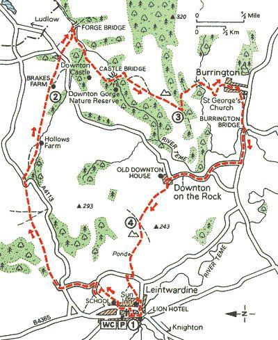 10 Mile Walk from Leintwardine round Downton Castle