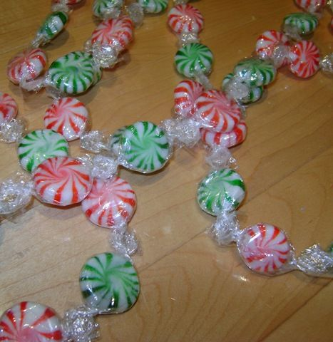 christmas candy crafts garland this is such a idea i am 1294