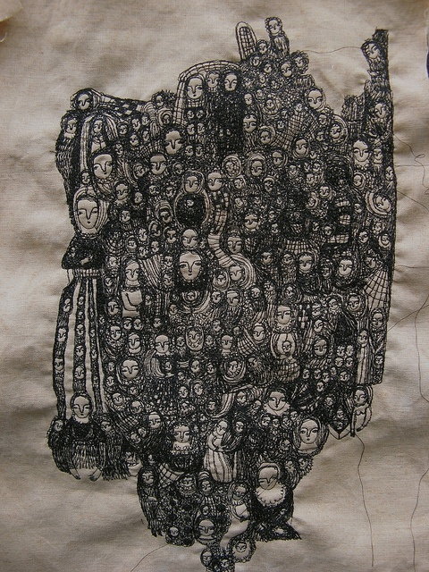 Cathy Cullis : 'Poetica Wip' embroidery: