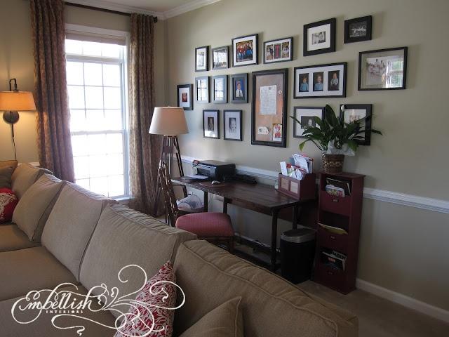Desk Area In Living Room New Living Room Pinterest
