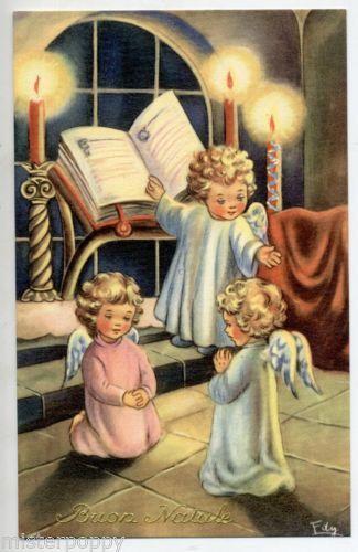 .1940 Kerstengeltjes vintage kerst-postkaart lb xxx.