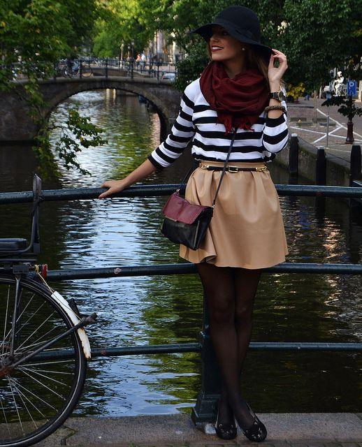 2014 Jersey + Pañuelo: Zara/Sombrero: ECI/Falda: Renata Giglio/ Slippers: Zara Kids/ Bolso + Cinturón: Mango