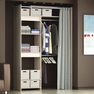 1000 id es propos de dressing avec rideau sur pinterest d coration de sa - Kit dressing extensible ...