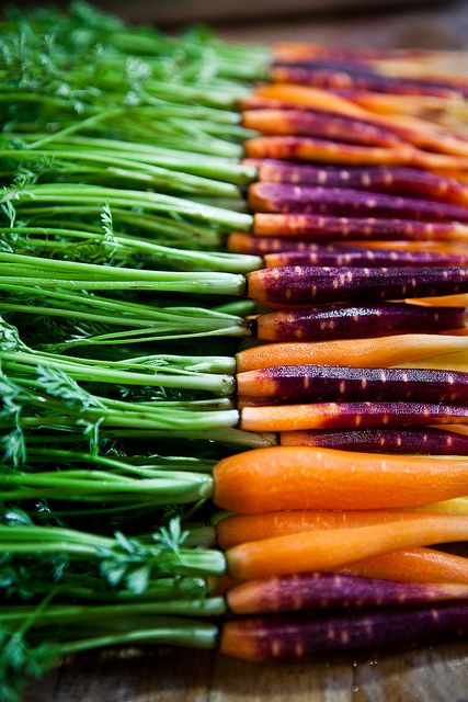 And the gorgeous carrots, just before a quick pickle.