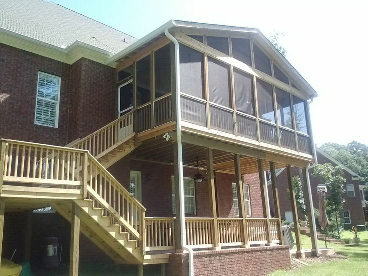 Screened Porch And Lower Patio In Macon Ga Building A