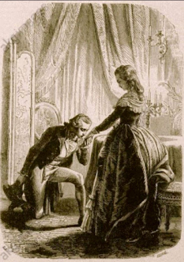 El Duque de Fitz -James saludando a Maria Antonieta