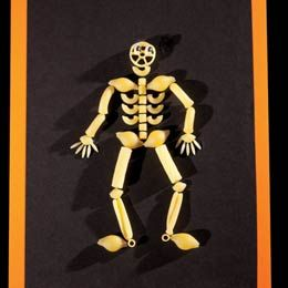 Skeletoni by Deborah Way, familyfun: Make it with pasta shapes. #Halloween #Skeletoni #Deborah_Way #familyfun
